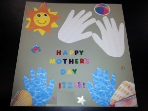 beach mothers day card