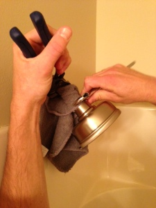 new shower head with wrenches