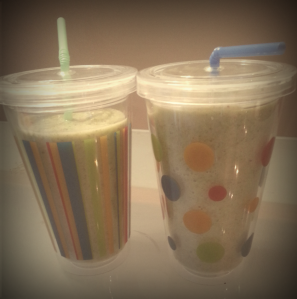 "Our ""smoothie cups"" are for smoothies only! I bought both of them for less than $5 at a dollar store."