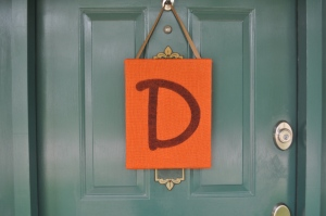 Fall Burlap Door Hanger