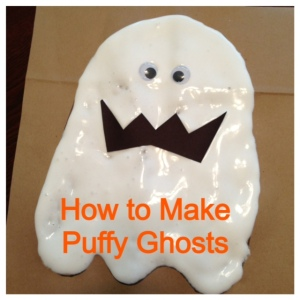 How to Make Puffy Ghosts