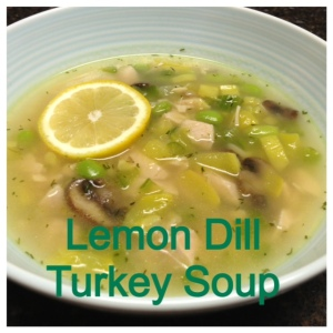 Lemon Dill Turkey Soup