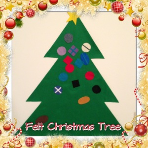Giant felt Christmas tree