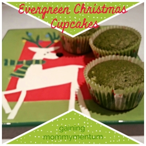 Evergreen Christmas Cupcakes