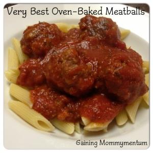 Oven-Baked PW Meatballs