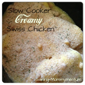Slow Cooker Creamy Swiss Chicken