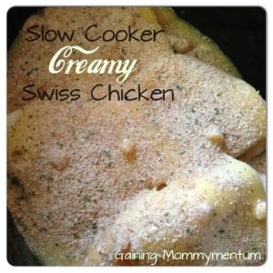Slow Cooker Creamy Swiss Chicken