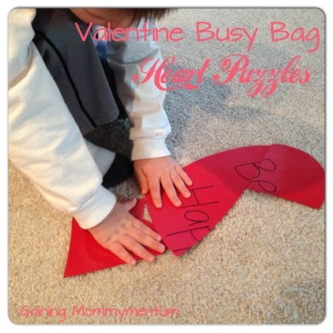 Valentine Busy Bag Heart Puzzles