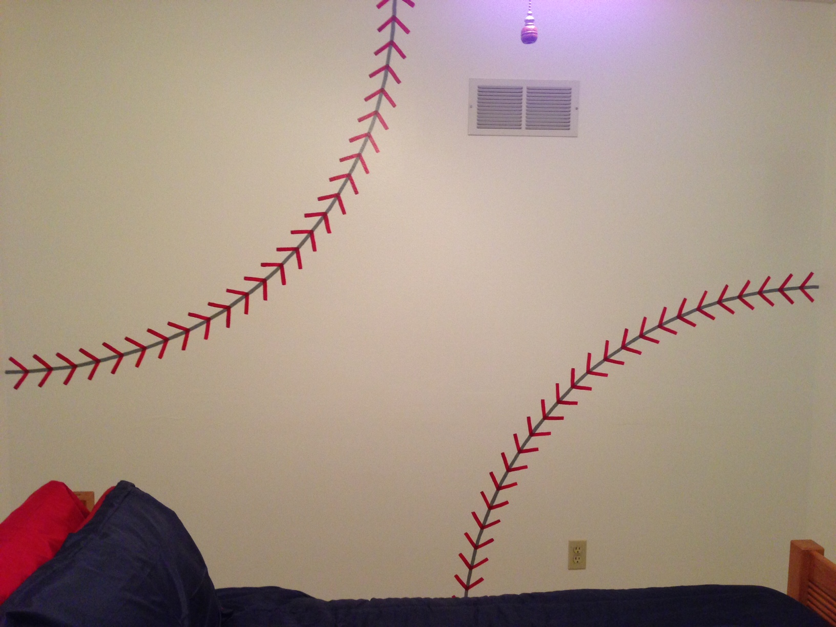 Baseball Stitches Wall Decal Murals Ideas Diy Painted Stitching Amipublicfo Images
