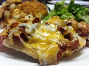 Cheesy Bacon Smothered Chicken