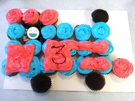 cupcake train cake