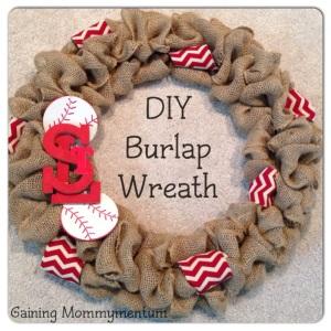 DIY Burlap Door Wreath