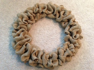 DIY Burlap Door Wreath