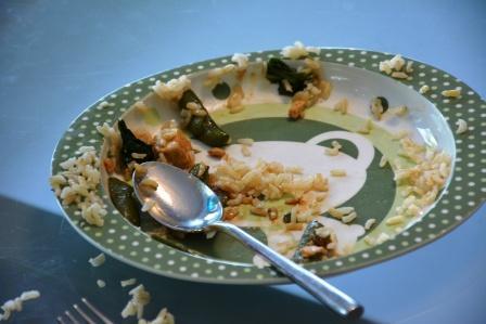 stir fry empty plate