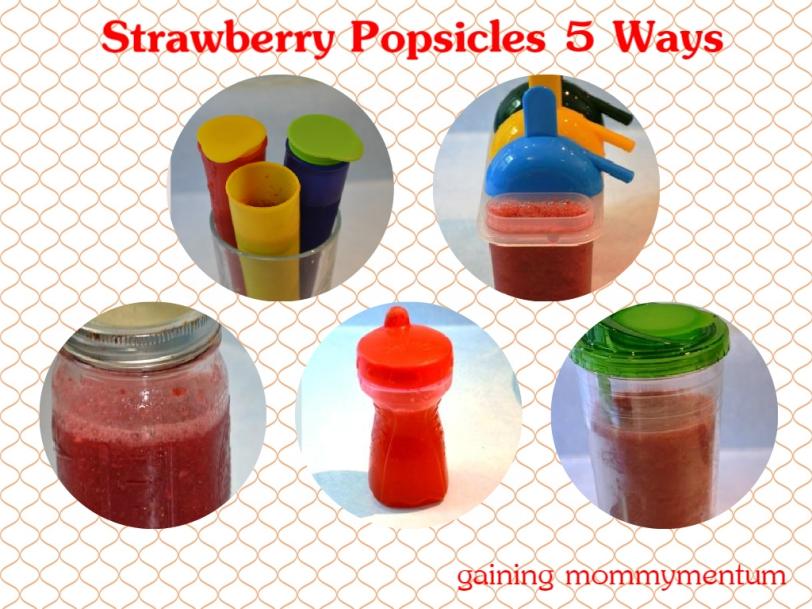 strawberry popsicles 5 ways