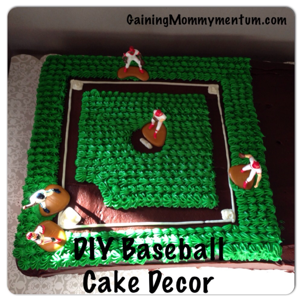 Miraculous Diy Baseball Field Cake Decor Gaining Mommymentum Personalised Birthday Cards Paralily Jamesorg