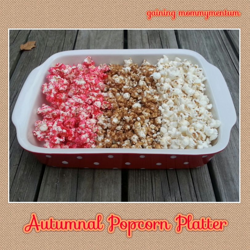autumnal popcorn platter
