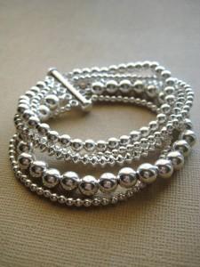 Multi strand beaded bracelet in sterling silver https://www.etsy.com/listing/68240437/silver-bracelet-beaded-bracelet-sterling?ref=shop_home_active_4