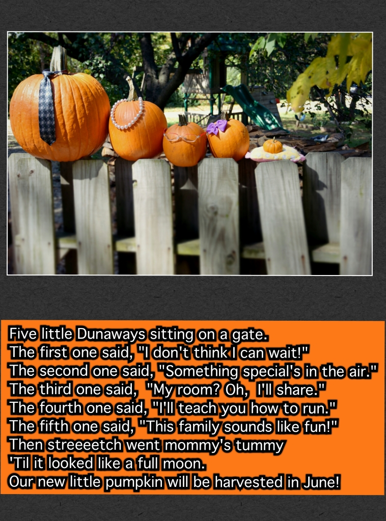 Pumpkin birth announcement